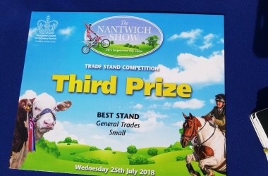 Group wins Third Prize in 'Best Trade Stand' category at Nantwich Show