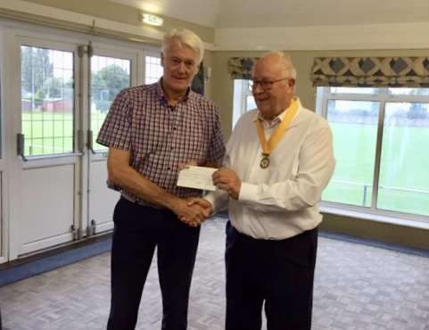 £910 from Mike Seaman and Northwich Vale Royal Rotary