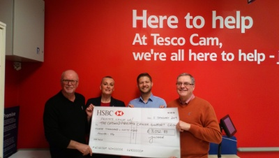 Thanks to Tesco at Cam and Minchinhampton Golf Club